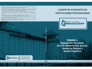 Temario 3 – Organización del Estado, Derecho Adm. General, Gestión de Personal y Financiera (17 Temas)